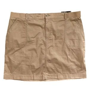 Lee Riders Midrise Utility Skort Size 16 M Wheat